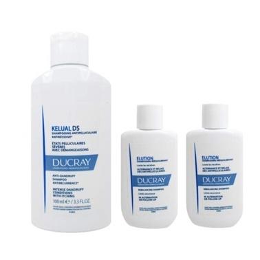 Ducray Ducray Kelual DS Shampoo 100ml + Elution Shampoo 2x30ml Set Renksiz